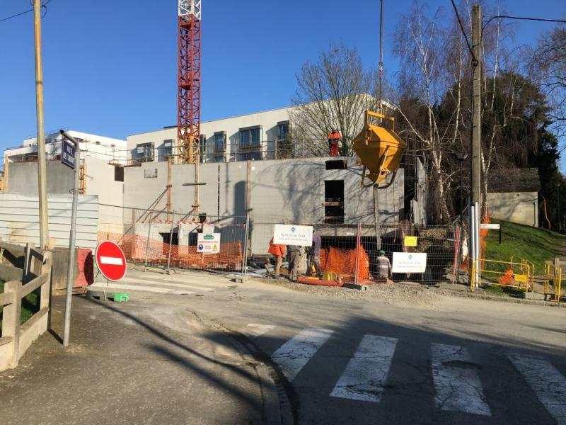 Le bâtiment AR GWEZ en construction