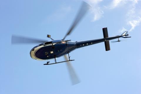 Survol en hélicoptère